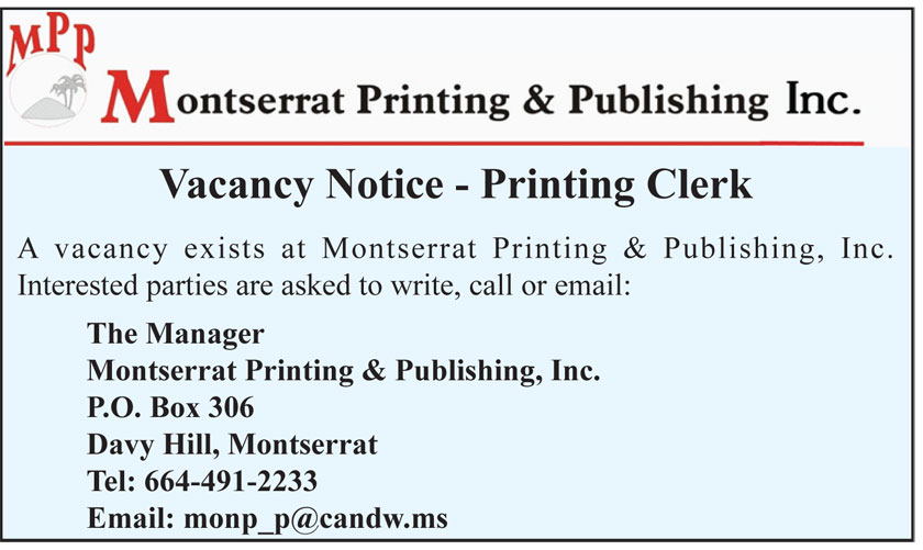Advertisements | The Montserrat Reporter | Page 18