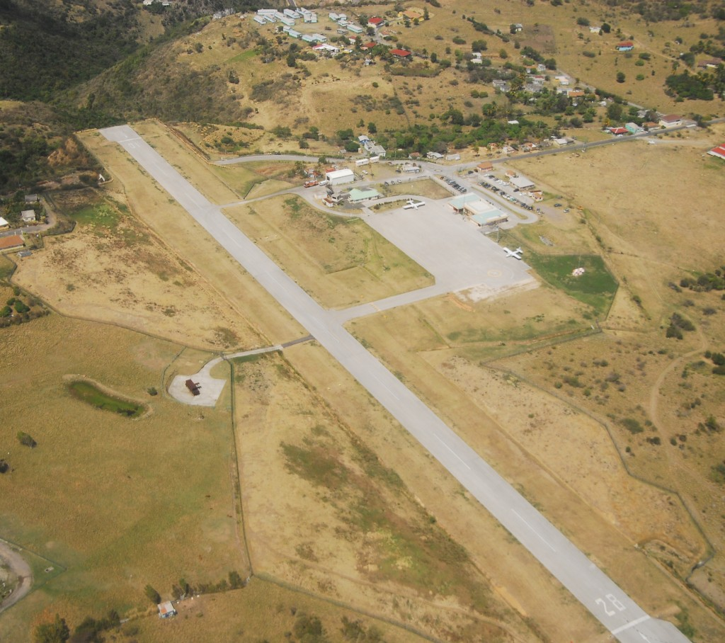 John A Osborne airport - aerial view