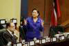 PM Kamla Persad Bissessar in Parliament