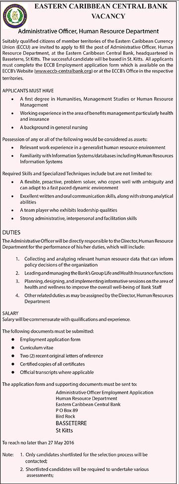 ECCB Vacancy